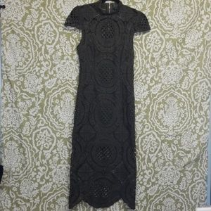 Romeo & Juliet Couture HunterGreen Lace Dress Sz M
